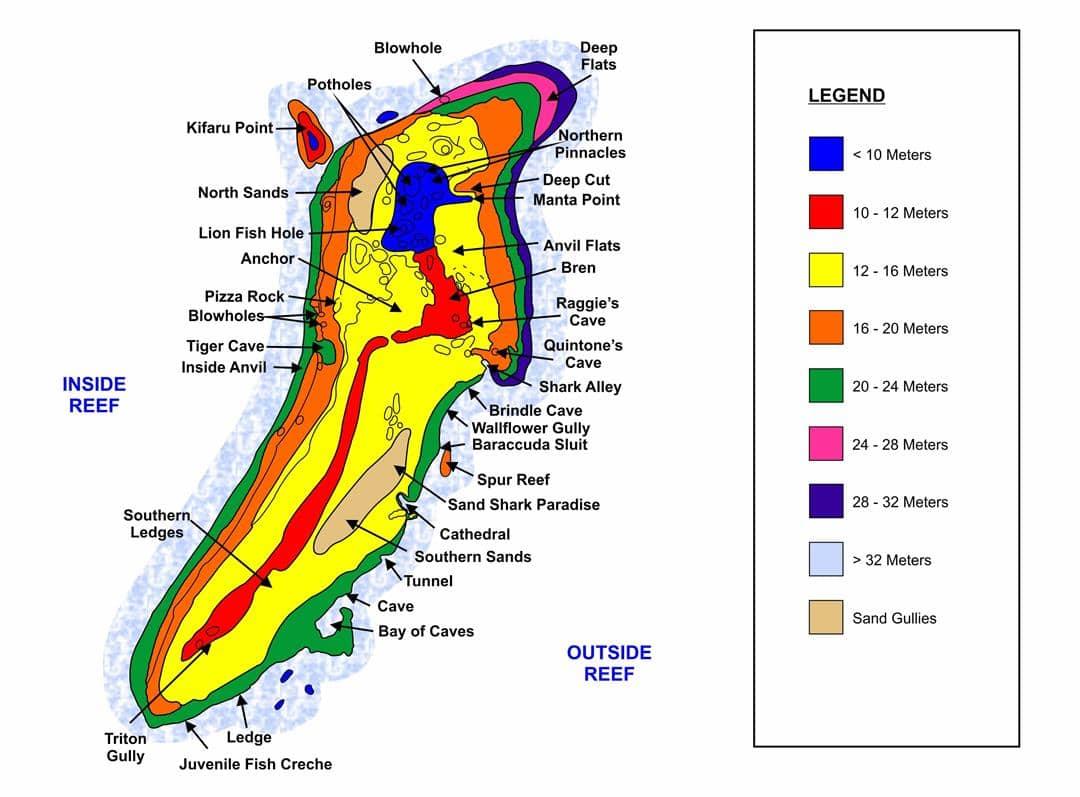 Aliwal Shoal Map - ScubaCo